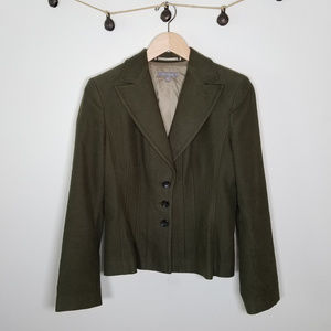 Ann Taylor Tailored Fit Olive Green Blazer 8